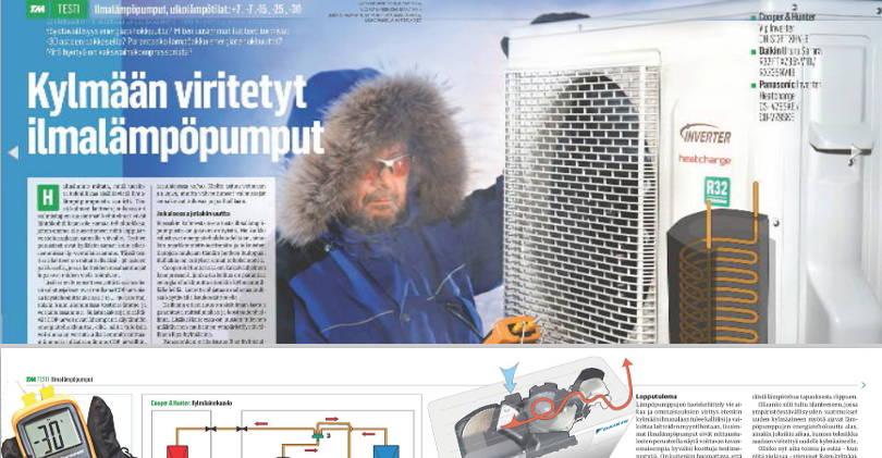 Сooper&Hunter, Panasonic, Daikin, в 2016 году в Финляндии провели тест работы тепловых насосов
